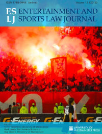 cover image for the The Entertainment and Sports Law Journal journal